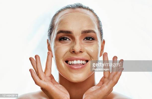 this mask will do the trick - exfoliation stock pictures, royalty-free photos & images