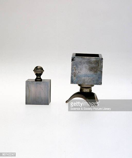 This measure was used for the determination of the weight of a cubic inch of distilled water.