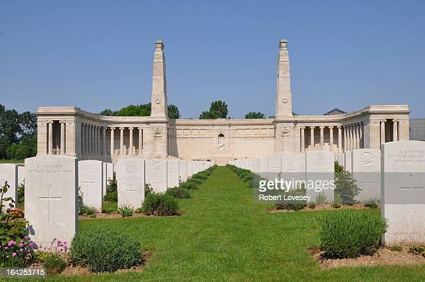 This Memorial bears the names of over 9,000 men who fell in the period from 8 August 1918 to the date of the Armistice in the Advance to Victory in...