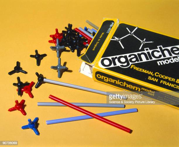 This molecular modelmaking set is designed for constructing models of organic molecules It was made in England for Freeman Cooper and Co of San...