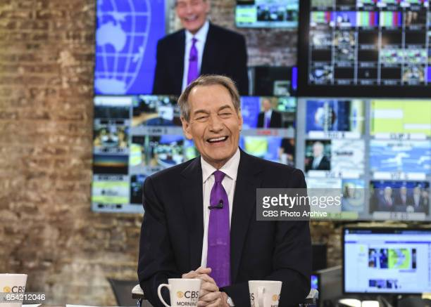 This Morning CoAnchors Charlie Rose Gayle King and Norah O'Donnell broadcast live from the CBS Broadcast center on March 13 2017 Charlie returns to...
