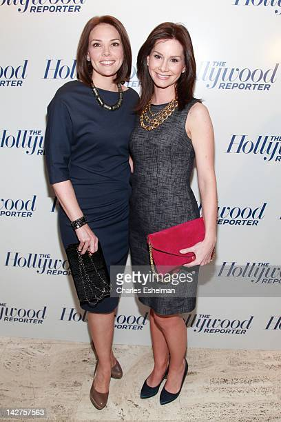 This Morning CoAnchors Erica Hill and Rebecca Jarvis attend the Hollywood Reporter celebrates The 35 Most Powerful People in Media at the Four Season...