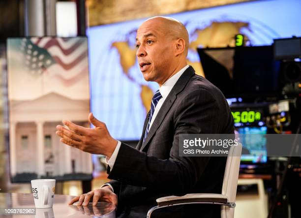 This Morning CoHosts Norah O'Donnell Gayle King John Dickerson and Bianna Golodryga interview Senator Cory Booker LIVE about his upcoming 2020...