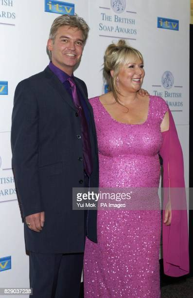 This Morning presenters Phillip Schofield and Fern Britton arrive for the Britsh Soap Awards at BBC TV Centre in west London Hosted by Paul O'Grady...