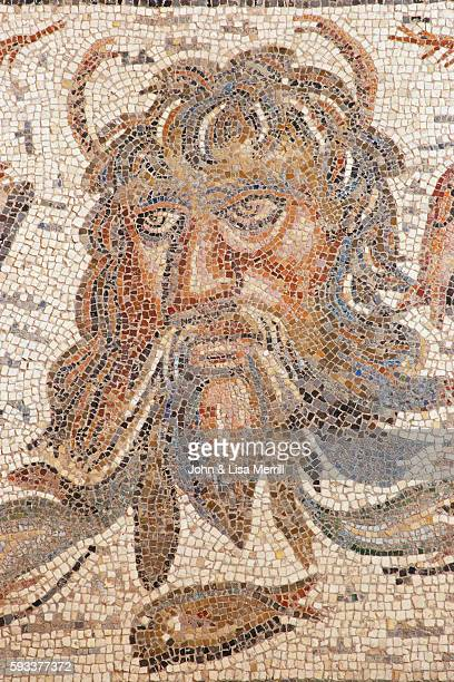 This mosaic is displayed in the Alcazar de los Reyes Cristianos a 14thcentury palace and fortress | Located in Alcazar de los Reyes Cristianos