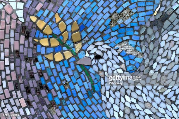 merton parceria paz garden mural de parede (detalhe) - símbolos de paz - fotografias e filmes do acervo