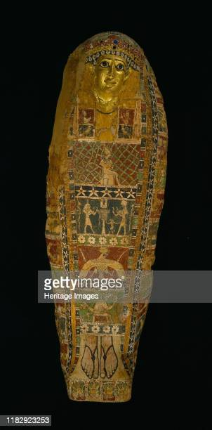 Cartonnage Mummy Case c 50 BC AD 50 This mummy case is made of cartonnage a material similar to papiermâché but using layers of linen rather than...