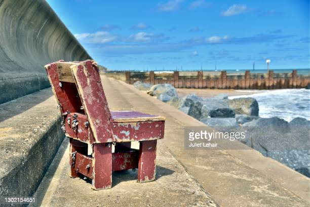 this must be the mermaid's chair. - pallet industrial equipment stock pictures, royalty-free photos & images