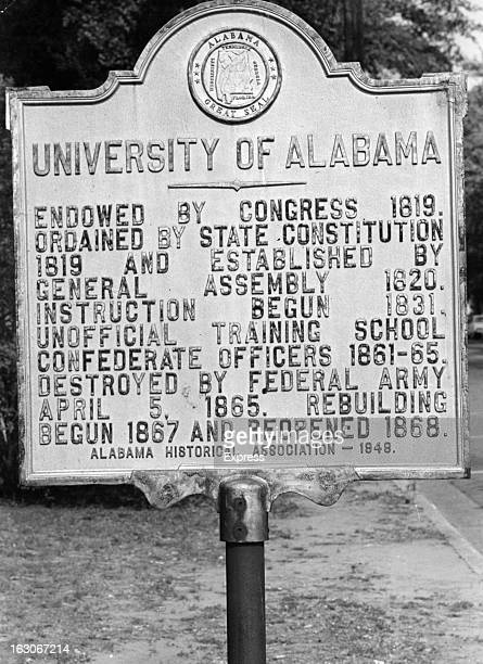 This notice gives history of the University Of Alabama at Tuscaloosa: until now, it never admitted a Negro student, 1963.