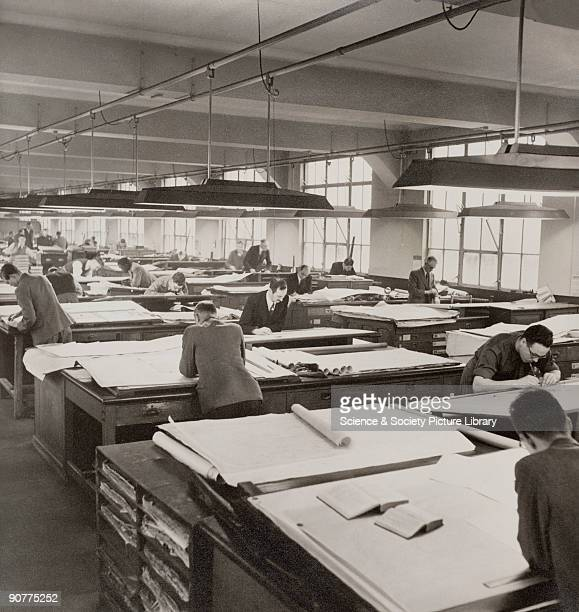 This office is where new plans for locomotives and rolling stock were drawn The workers are designing a 462 locomotive Derby works produced its first...