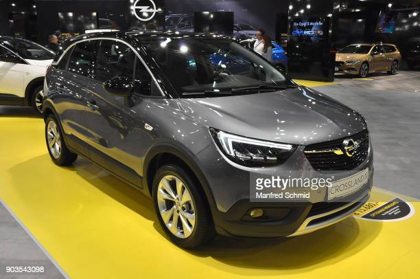 This Opel Crossland X is displayed during the Vienna Autoshow as part of Vienna Holiday Fair on January 10 2018 in Vienna Austria The Vienna Autoshow...