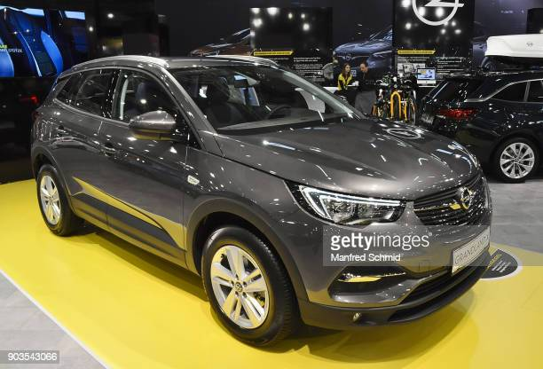 This Opel Grandland X is displayed during the Vienna Autoshow as part of Vienna Holiday Fair on January 10 2018 in Vienna Austria The Vienna Autoshow...