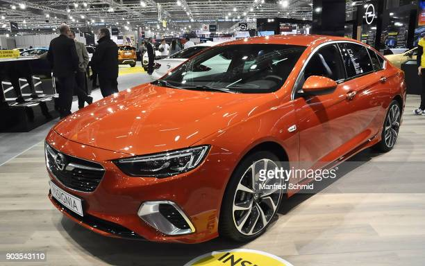 This Opel Insignia is displayed during the Vienna Autoshow as part of Vienna Holiday Fair on January 10 2018 in Vienna Austria The Vienna Autoshow...