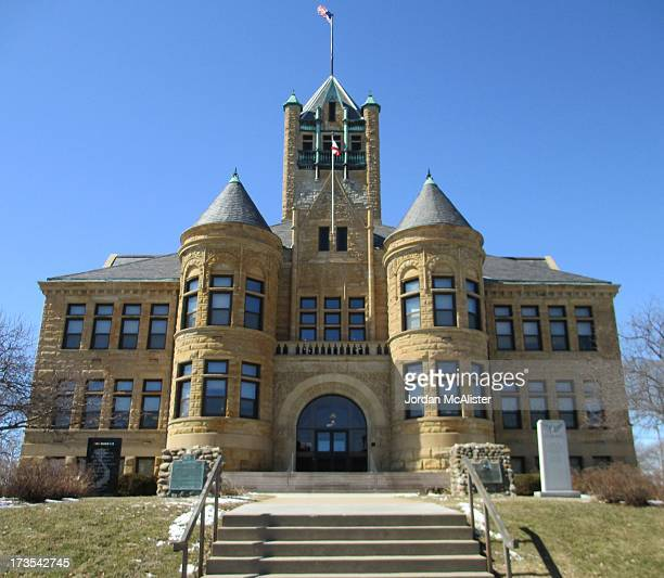 This outstanding Romanesque Revival courthouse was erected in 1899 using the designs of the architectural firm of Rush, Bowman and Company. Iowa City...