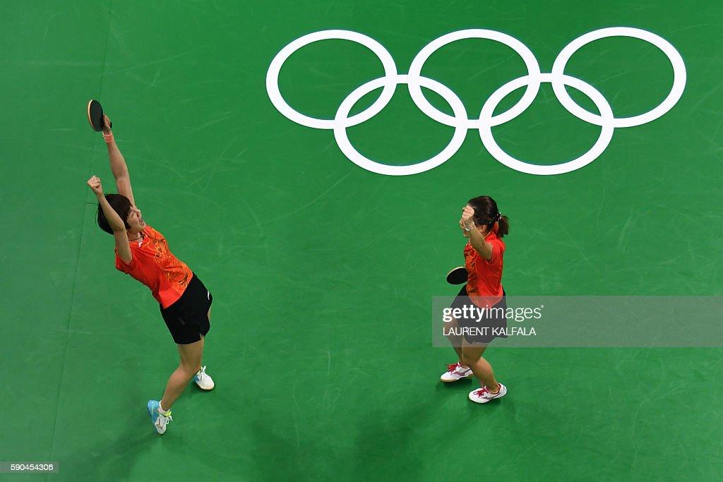 TABLE TENNIS-OLY-2016-RIO-CHN-GER : News Photo