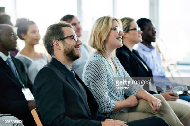 this particular conference was packed - conference stock pictures, royalty-free photos & images