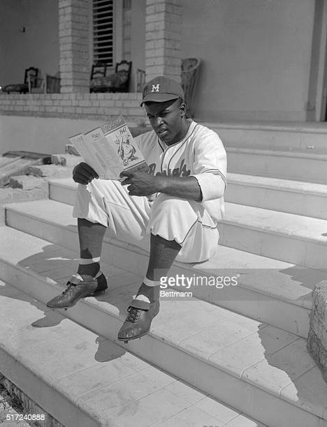 This pensive young man is Jackie Robins on the phenomenal Negro athlete who first won fame at the University of California in Los Angeles and who is...
