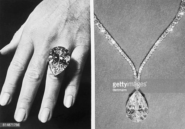 This perfect 6942carat white diamond shown as it would look as a ring or pendant was auctioned in New York for $1000 The buyer was the New York...