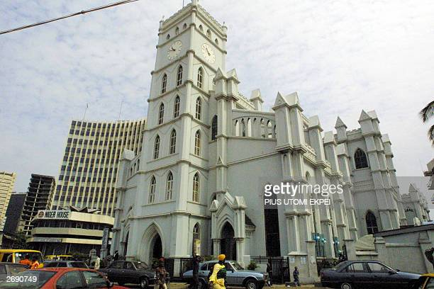 This photo dated 02 November 2003 shows the Catheral Church of Christ in Lagos 02 November 2003 The Anglican Church in Nigeria rejects the...