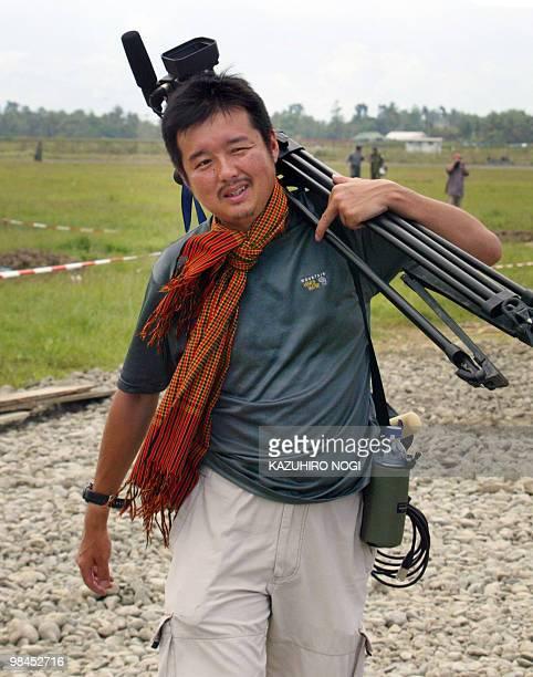 This photo dated January 26 2005 shows Reuters television cameraman Hiroyuki Muramoto in Banda Ache Indonesia Muramoto a Japanese cameraman with the...