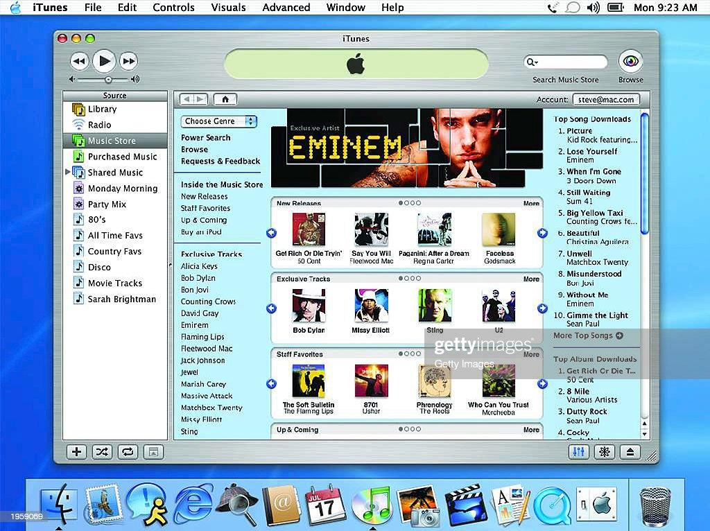 Apple Unveils Music Store : News Photo