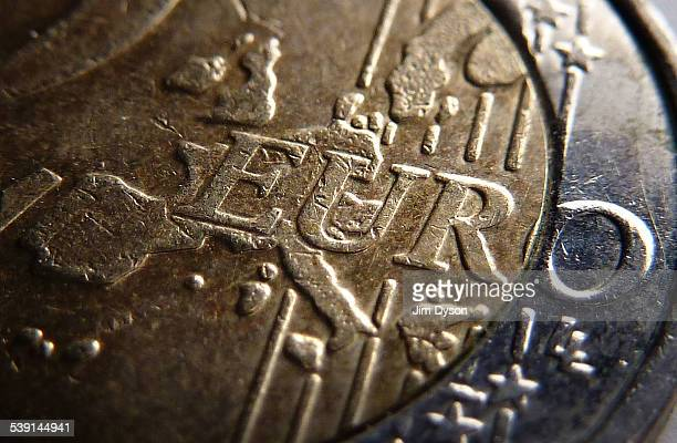 This photo illustration shows a detail of a Two Euro coin on February 20 2014 in London United Kingdom The euro is the currency of the Eurozone which...