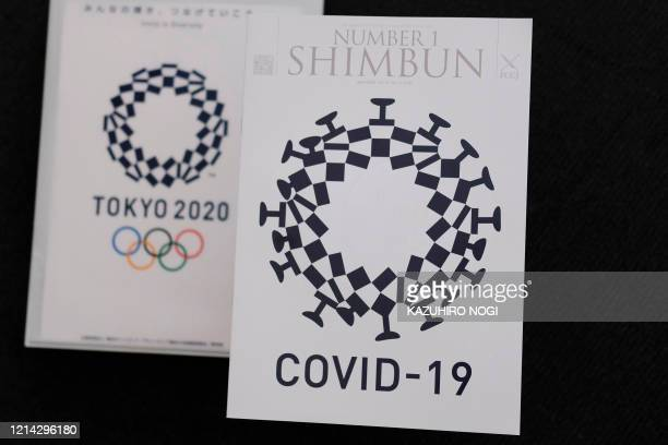 This photo illustration taken on May 21, 2020 in Tokyo shows the cover design of Number 1 Shimbun , the monthly magazine for members of the Foreign...