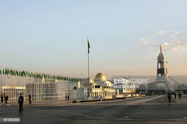 This photo is taken 14 February 2007 shows a memorial, near the Presidency Palace in Ashgabat, Turkmenistan, 14 February 2007. AFP PHOTO MUSTAFA OZER