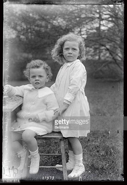 This photo is that of Miss Evelyn Bigelow Clark and Master John Bigelow Clark children of Mr and Mrs J Francis Clark