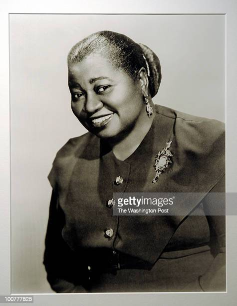 This photo of Hattie McDaniel is on the wall just outside the Theater at Howard University on April 9 2010