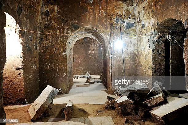 This photo released by archaeologists from China's Henan cultural relic bureau on December 27 2009 shows the interior of a nearly 1800yearold tomb...