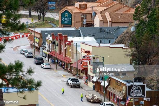 This photo shows a general view of Kestone South Dakota on April 23 2020 South Dakota known for corn fields and cattle ranches is one of only five US...