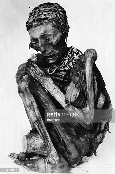 This photo shows a Peruvian 'mummy' from the grave of an ancient Inca tribe