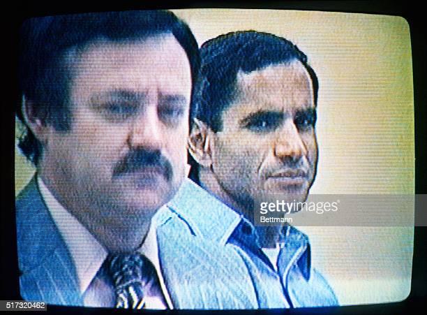 This photo shows Attorney Like McKissak with defendant Sirhan Sirhan