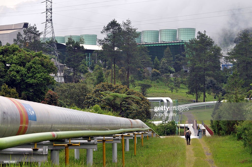 SOEDARJO This photo shows instalations belonging to PT. Pertamina Geothermal in Kamojang on April 22, 2010. Indonesia has launched an ambitious plan to tap the vast power of its volcanoes and become a world leader in geothermal energy, and in so doing slash its greenhouse gas emissions.