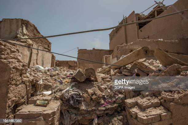 TOWN KASHGAR XINJIANG CHINA This photo shows rubble of traditional houses demolished to make way for new homes in the Kashgar old town northwestern...