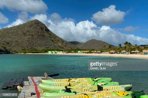 This photo shows Santa Cruz beach northwest of Willemstad Curacao in the Dutch Caribbean on March 4 2020
