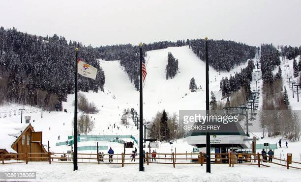 This photo shows the base at Deer Valley Ski Resort 28 February 2001 This will be the site of various ski events for the 2002 Winter Olympics in Salt...