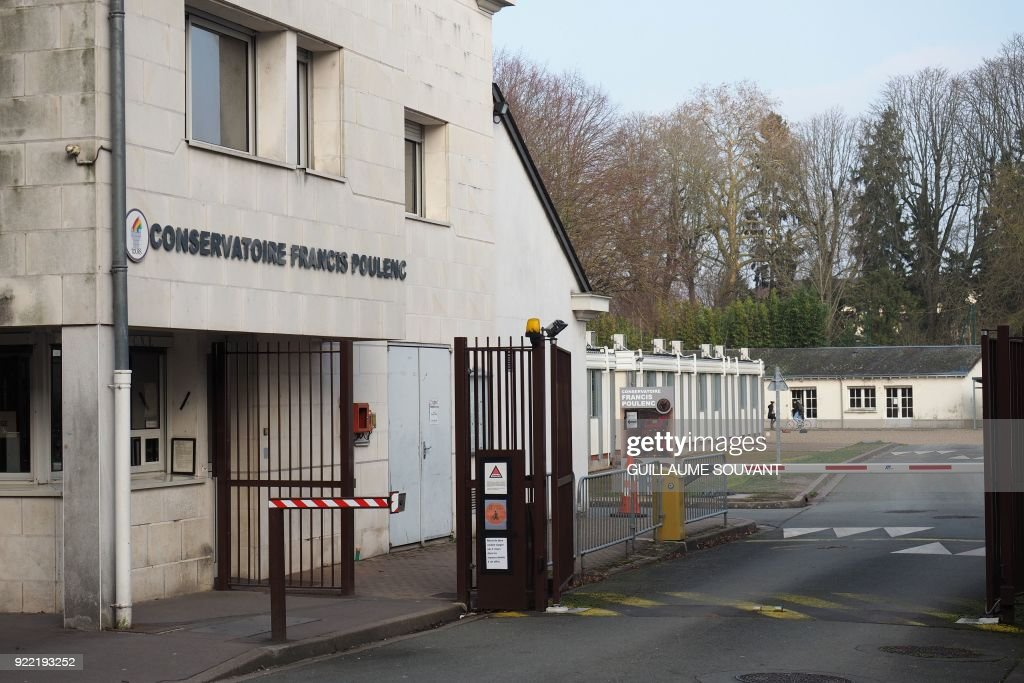 This photo shows the entrance to the Conservatory of Music in Tours on February 21, 2018. The choirmaster of the Conservatory of Music of Tours was put under investigation and imprisoned on February 19, 2018 for rape and sexual assault on minors by an authority person, according to the prosecutor of Tours on February 21. /