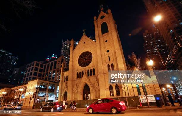 This photo shows the Holy Name Cathedral in Chicago on December 19 2018 Almost 700 clergy in Illinois have been accused of child sexual assault a far...