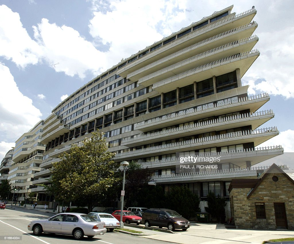 This photo shows the Watergate complex in Washington, DC, as seen 17 June 2002. Thirty years ago burglars used eavesdropping bugs to listen in on the Democratic National Committee with offices in the Watergate by setting up shop in the nearby Howard Johnson Hotel, and were caught in the act with the scandal leading up to the resignation of then US President Richard Nixon. AFP PHOTO/Paul J. Richards