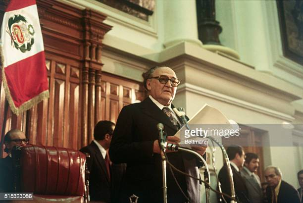 This photo shows Victor Raul Haya De La Torre the President of the Peruvian Constitutional Assembly