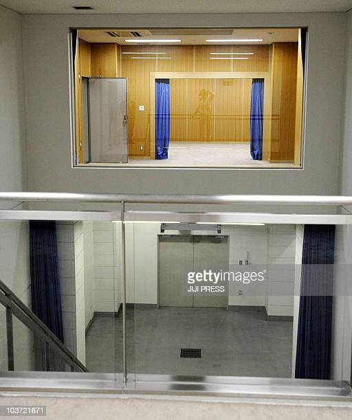 This photo taken during a media tour conducted by Japan's Justice Ministry on August 27 2010 shows some of the rooms inside the Tokyo detention house...