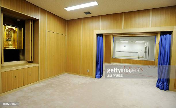 This photo taken during a media tour conducted by Japan's Justice Ministry on August 27 2010 shows some of the rooms including the execution room...
