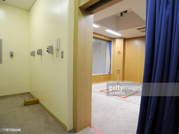 This photo taken during a media tour conducted by Japan's Justice Ministry on August 27 2010 shows an execution room at the Tokyo detention house in...