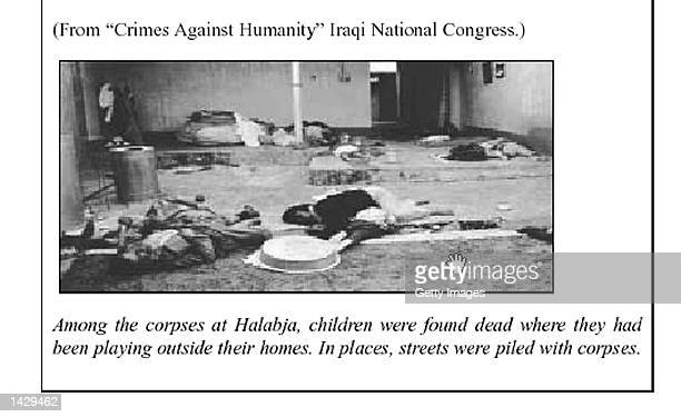 This photo taken from the British government's 50-page report on Iraq's weapons of mass destruction capability released September 24, 2002 reportedly...