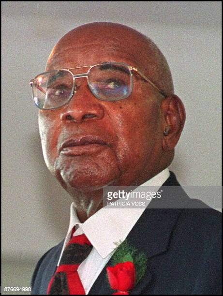 This photo taken in June 1993 in Blantyre shows former dictator of Malawi Kamuzu Banda Banda died on November 25 1997 at the City Garden Clinic in...