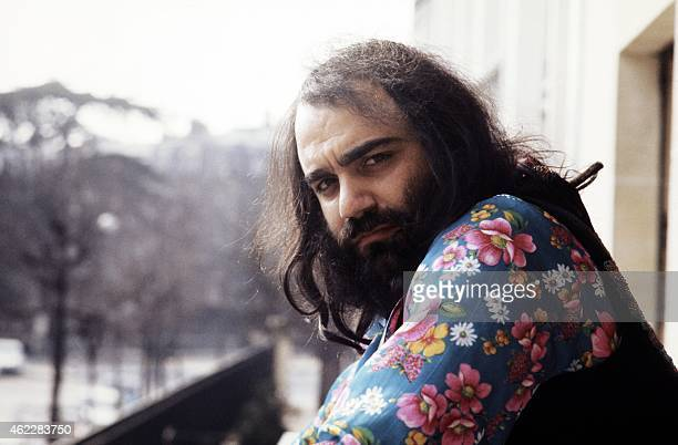 This photo taken in March 1973 shows Greek singer Demis Roussos posing at an unknown location Roussos best known for operatic pop ballads in the...