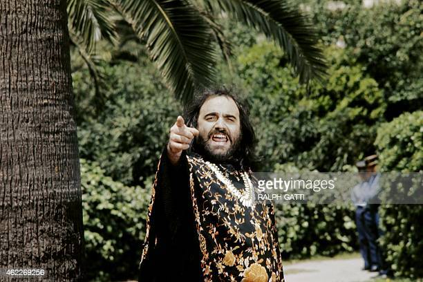 This photo taken in May 1975 shows Greek singer Demis Roussos posing during the Cannes film festival Roussos best known for operatic pop ballads in...