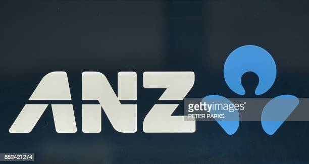 This photo taken in Sydney on November 30 2017 show the logo of ANZ one of the 'big four' Australian banks A wideranging inquiry into the Australian...